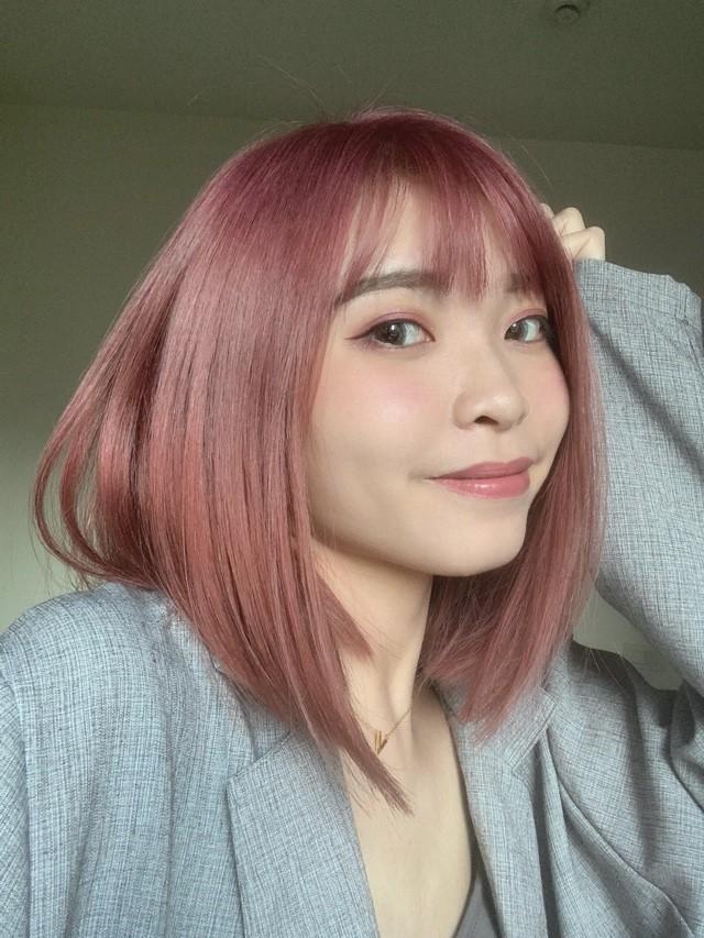 灰紅髮色推薦 信義區染髮 2020秋季韓國髮色推薦